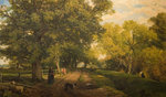 Warwickshire Landscape, Mid 19th century by Frederick William Hulme - print