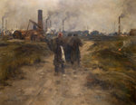 Evening in the Black Country by Edwin Butler Bayliss - print