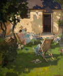 Summer Cottage by William Harold Dudley - print