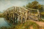 Ladder Bridge, Weeping Cross, Staffordshire, 1867 by Frederick Henry Henshaw - print
