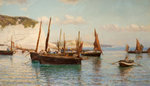 Bell Trawlers Going Out To Sea, 1882 by Tom Lloyd - print