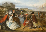 Victorian Family on the Beach, 1860 - 1890 by Tom Lloyd - print