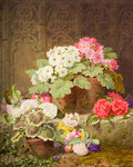 Still Life, Flowers, 1874 by Thomas Worsey - print
