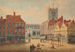 St Peter's Church, Market Place, Wolverhampton by George Wallis - print