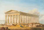 Temple of Poseidon, Paestum, Naples, 1818 - 1870 by David Roberts - print