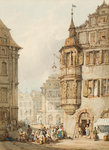 Market Scene, Nuremburg, 1783 - 1854 by Joseph Mallord William Turner - print