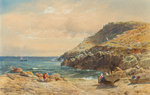 Landscape on the Cornish Coast by John Mogford - print