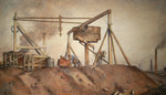 In the Gin Pit by Edwin Butler Bayliss - print