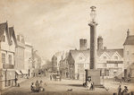 View of Queen Square, 1817 by Robert Noyes - print