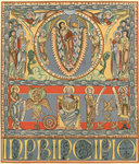 Copy of a page from a 12th century Flemish bible, 1900 by George Wallis - print