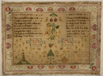 "Sampler, Psalm 23 and Proverbs 31, ""Ann Allen her Work Nov 15 1786"" by unknown - print"