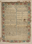 "Sampler in the form of the page of Bible, ""Eliz Wright workd this in Mrs Robins's School in Birmingham June 12 1737"" by Unknown - print"