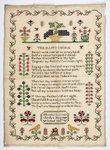 "Sampler stitched with a poem, ""The Happy Choice"", ""Elizabeth Green, Cheslyn Hay School, 1837"" by unknown - print"
