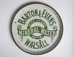 Advertising tray for Barton and Evans Mineral Waters of Walsall by unknown - print