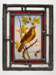 Window pane with a painted thrush, from the Woolpack Inn, Walsall by unknown - print