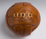 Hand stitched leather football by Globe of Walsall, c.1964 by unknown - print