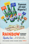 Rainbow Mineral Waters advertisement, printed by Walsall Lithographic Company Limited, 1950s