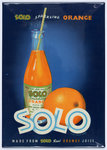 Solo Sparkling Orange Juice advertisement, printed by Walsall Lithographic Company Limited, 1960s
