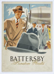 Battersby London Hats advertisement poster, Walsall Lithographic Company Limited, 1930s by unknown - print