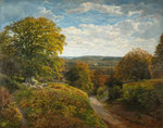 A Surrey Landscape, 1820 - 1884 by Frederick William Hulme - print