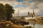 River Scene Rouen, 1879 by James Webb - print