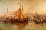 The Harbour Amsterdam, 1876 by James Webb - print