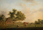 Dutch Landscape with Cattle by George W Horlor - print