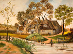 Warley Hall Farm, 1900 by Joseph Swain - print