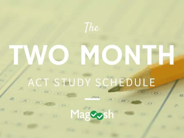 Two Month ACT Study Schedule Banner