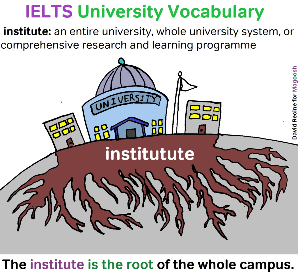 IELTS University Vocabulary - institute - magoosh