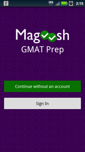 Magoosh GMAT Android App
