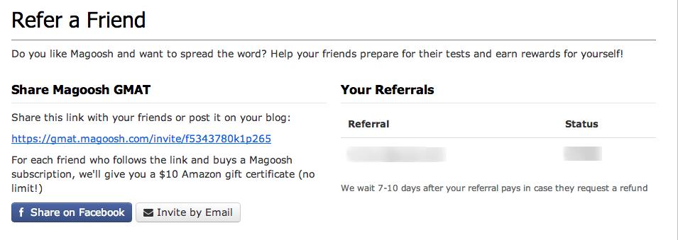 Magoosh GMAT   Refer a Friend
