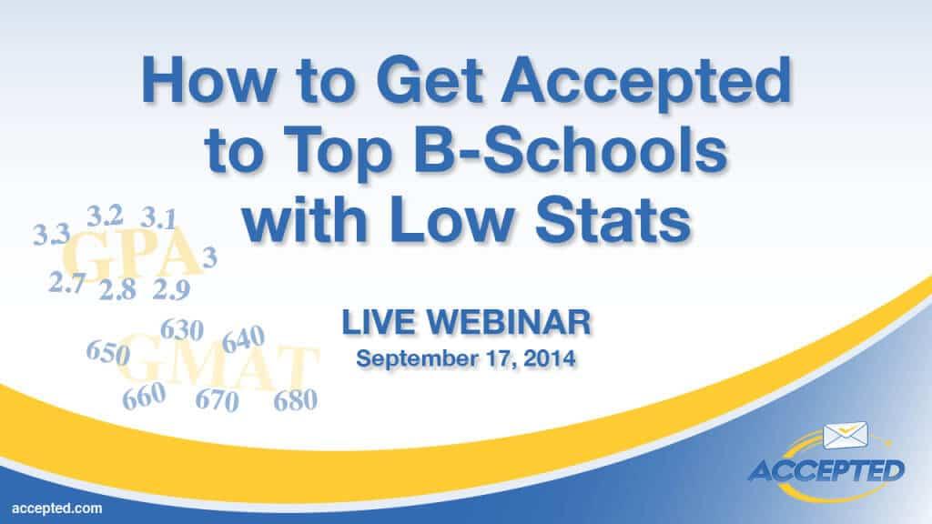 low stats in bschool
