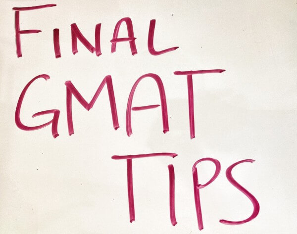 Last Minute Tips Before Your Test