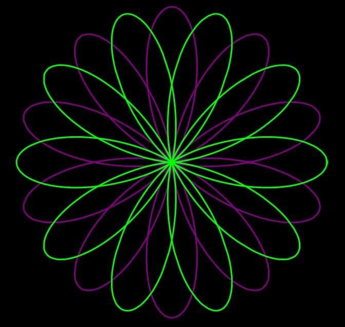 interlaced-five-petal-flowers
