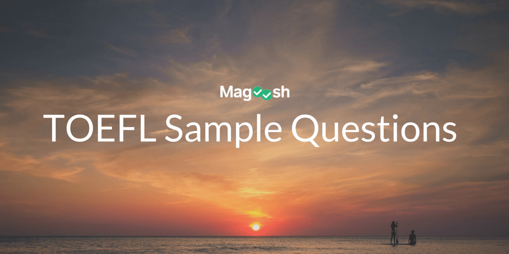 TOEFL Sample Questions