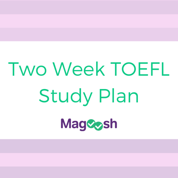 Two Week TOEFL Study Plan
