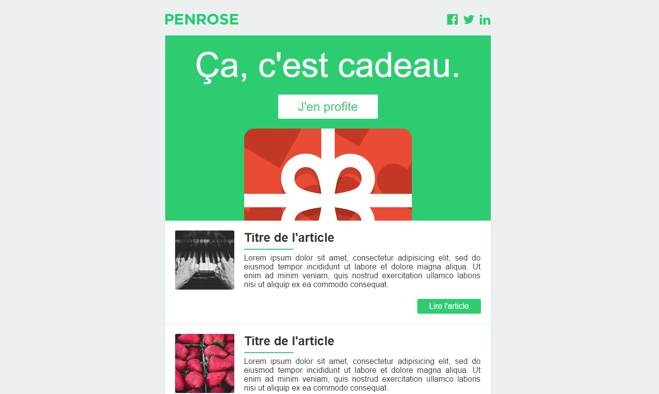 300 free responsive email templates of various categories and styles 1 responsive email template by agence penrose pronofoot35fo Choice Image