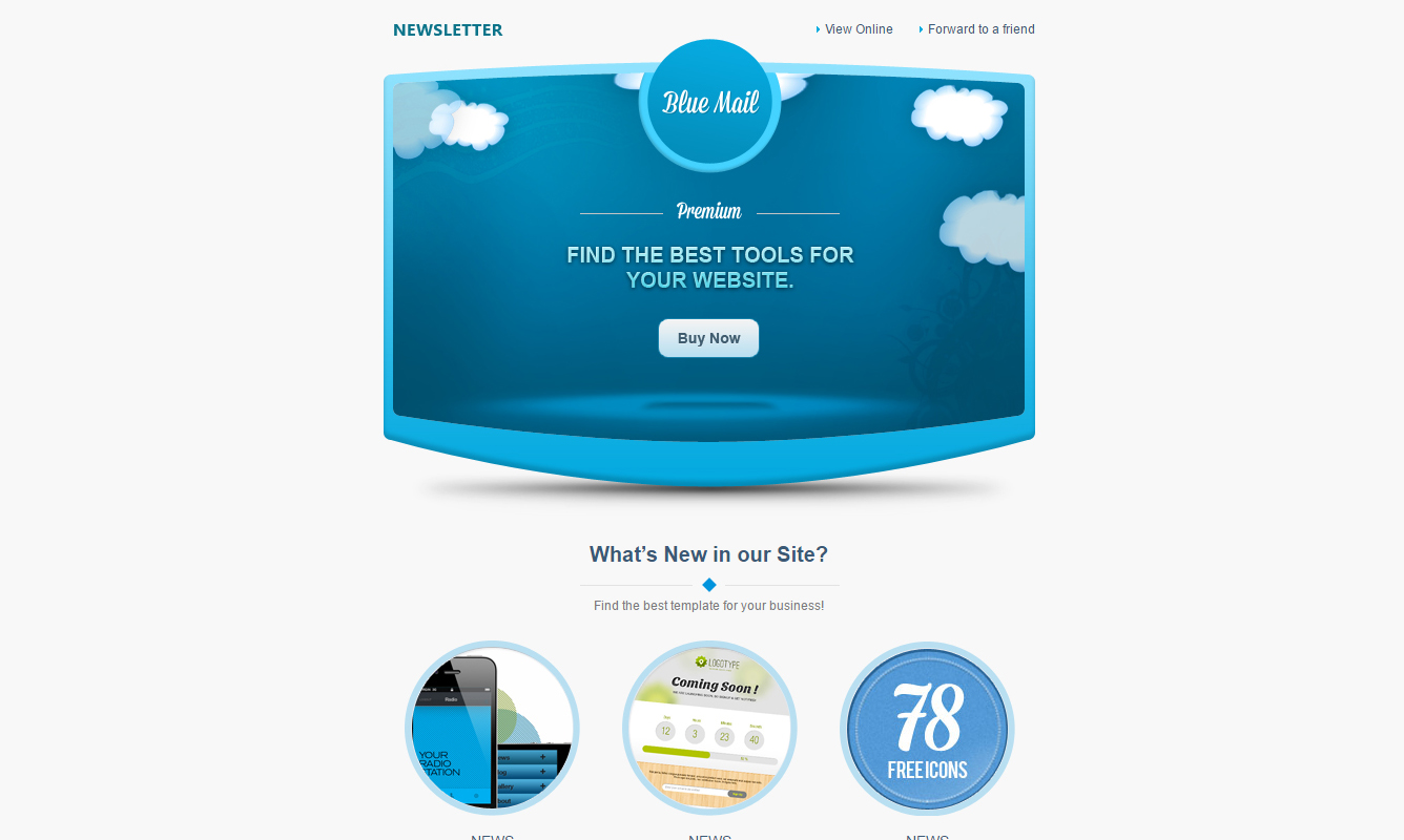 Free Responsive Email Templates Of Various Categories And Styles - Promotional mailer template