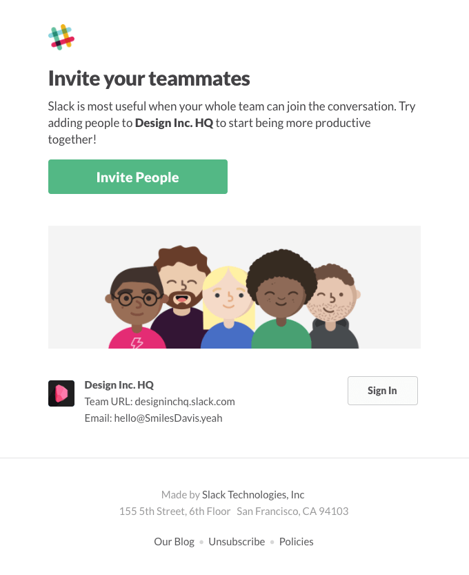 email invite design