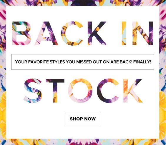 back-in-stock email marketing campaign ideas
