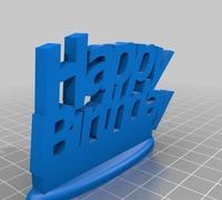 Birthday card 3d models for 3d printing makexyz happy birthday gift card holder m4hsunfo