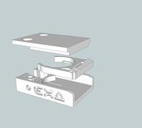 cr2025 battery holder 3d models for 3d printing. Black Bedroom Furniture Sets. Home Design Ideas