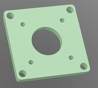 Nema 17 3d models for 3d printing for Nema 23 motor mount plate