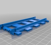 Lego train track straight 3D models for 3D printing | makexyz com