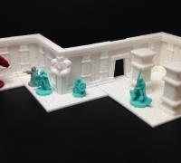 photo regarding 3d Printable Dungeon Tiles identified as Modular dungeon tiles 3D styles for 3D printing