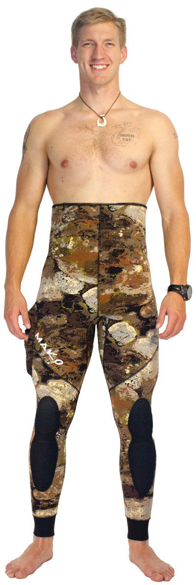 3D reef camo wetsuit - Optional High waist pants
