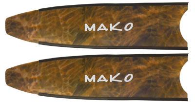 camo brown fiberglass fin blade