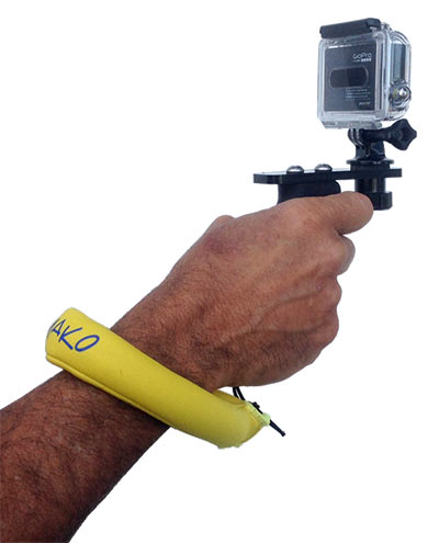 floating wrist strap showing AR15 handle in hand