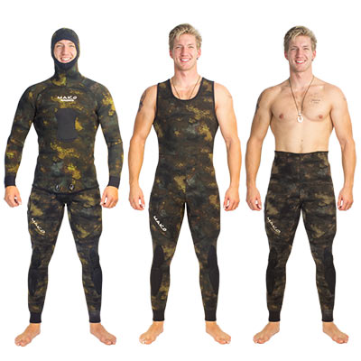 Spearfishing wetsuit reef camo